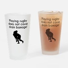 Drain Bamage Rugby Drinking Glass