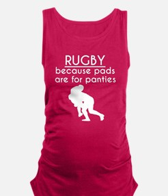 Pads Are For Panties Rugby Maternity Tank Top