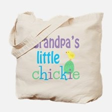 Grandpa's Little Chickie Tote Bag