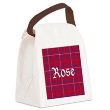Tartan - Rose Canvas Lunch Bag