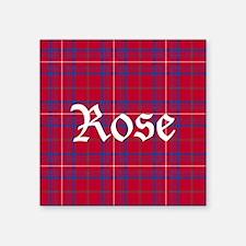 "Tartan - Rose Square Sticker 3"" x 3"""