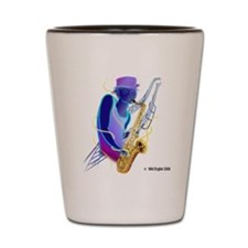 Sax Man Shot Glass