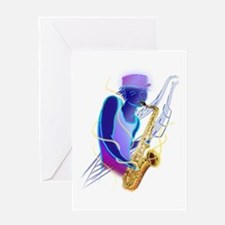 Sax Man Card Greeting Cards