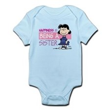 Happiness is being a Sister Infant Bodysuit