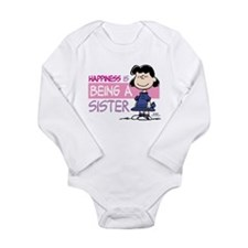Happiness is being a S Long Sleeve Infant Bodysuit