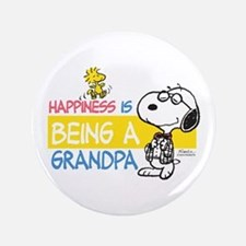 Happiness Is Being A Grandpa Button