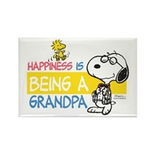 Happiness Is Being A Grandpa Rectangle Magnets
