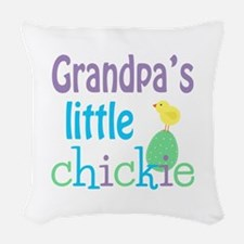 Grandpa's Little Chickie Woven Throw Pillow