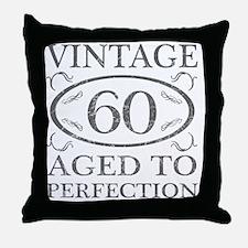 60th Birthday Vintage Throw Pillow