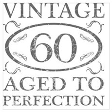 60th Birthday Vintage Canvas Art
