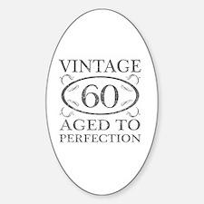 60th Birthday Vintage Sticker (Oval)