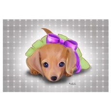 ByCatiaCho Doxie Pup Framed Print