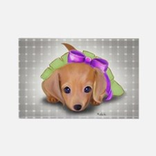 ByCatiaCho Doxie Pup Rectangle Magnet