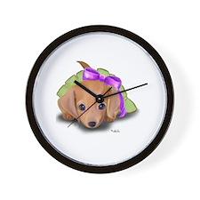 ByCatiaCho Doxie Pup Wall Clock