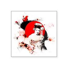 """Kyoto Girl Square Sticker 3"""" x 3"""""""