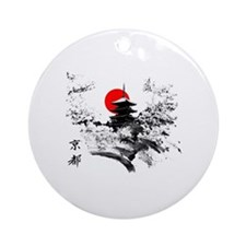Kyoto Temple Round Ornament