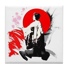 Kyoto Geisha Tile Coaster