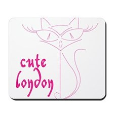 cute london cat Mousepad