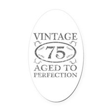 75th Birthday Vintage Oval Car Magnet