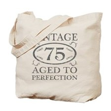 75th Birthday Vintage Tote Bag
