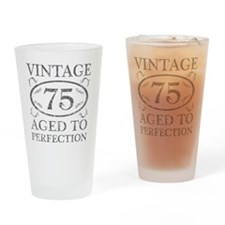 75th Birthday Vintage Drinking Glass