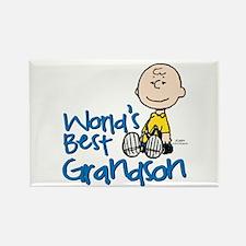 World's Best Grandson Rectangle Magnet