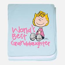 World's Best Granddaughter baby blanket