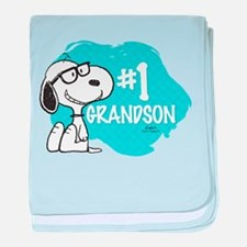 Number One Grandson baby blanket
