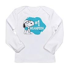 Number One Grandson Long Sleeve Infant T-Shirt