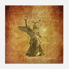 Statue from Berlin Victory Column Tile Coaster
