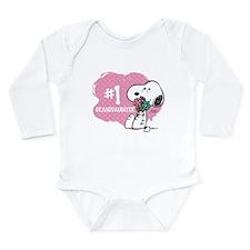 Number One Granddaught Long Sleeve Infant Bodysuit
