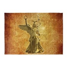 Statue from Berlin Victory Column 5'x7'Area Rug