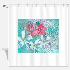 Pink turquoise Shower Curtain