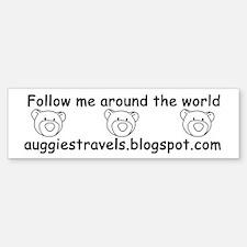 Auggie's Travels Bumper Bumper Bumper Sticker