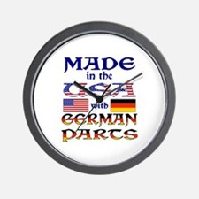 Made USA With German Parts Wall Clock