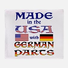 Made USA With German Parts Throw Blanket