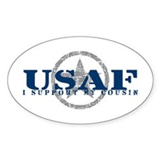 I Support My Cousin - Air Force Oval Decal