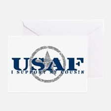 I Support My Cousin - Air Force Greeting Cards (Pk
