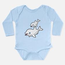 Dolphins Long Sleeve Infant Bodysuit