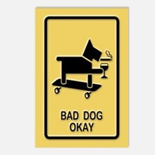Bad Dog Okay Postcards (Package of 8)