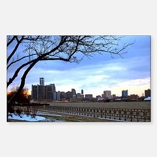 Detroit Skyline at sundown Decal