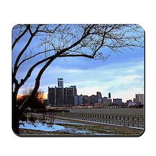 Detroit Skyline at sundown Mousepad