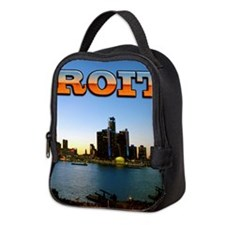 Detroit City Neoprene Lunch Bag