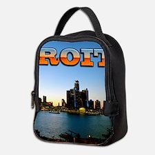 Detroit City Neoprene Lunch Bag