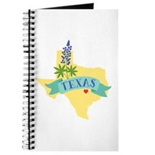 Texas State Outline Bluebonnet Flower Journal