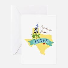 Texas State Outline Bluebonnet Flower Greetings Gr