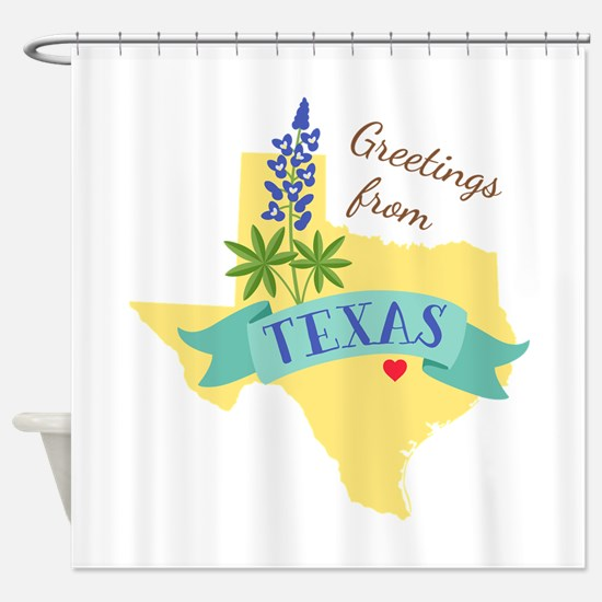 Texas State Outline Bluebonnet Flower Greetings Sh