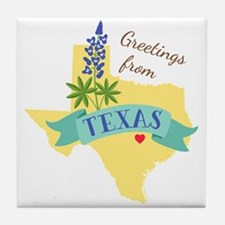 Texas State Outline Bluebonnet Flower Greetings Ti