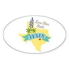 Texas Lone Star State Outline Bluebonnet Flower St