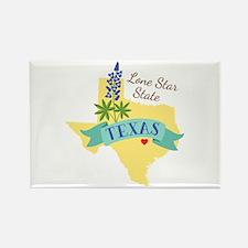 Texas Lone Star State Outline Bluebonnet Flower Ma
